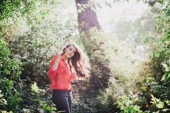 Beautiful Young Woman Enjoying Sunset Royalty Free Stock Photos
