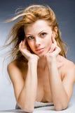 Beautiful young woman enjoying the wind Royalty Free Stock Photo
