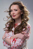 Beautiful young woman in ethnic dress Royalty Free Stock Photos