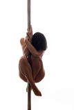 Beautiful young woman exercise pole dance Stock Photos