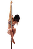 Beautiful young woman exercise pole dance Stock Photography