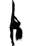 Beautiful young woman exercise pole dance Royalty Free Stock Image