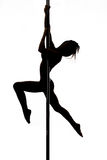Beautiful young woman exercise pole dance Royalty Free Stock Photo