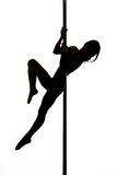 Beautiful young woman exercise pole dance Stock Image