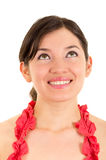 Beautiful young woman expressing happiness Royalty Free Stock Images