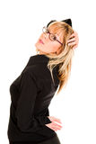 Beautiful young woman with eyeglasses Royalty Free Stock Photography