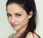 Beautiful young woman face Stock Images