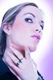 Beautiful young woman face. Stock Image