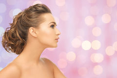 Beautiful young woman face Royalty Free Stock Images