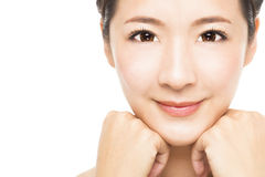 beautiful young Woman face Stock Image