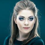 Beautiful young woman face Stock Photos