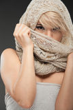 Beautiful young woman face Royalty Free Stock Photography