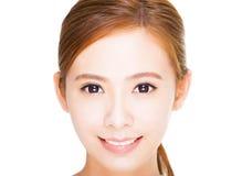 Beautiful  young woman face Stock Photo