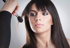 Beautiful Young Woman Face.Make-up concept Stock Photos
