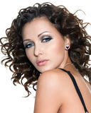 Beautiful young woman with fashion makeup Royalty Free Stock Photography