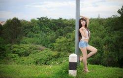 Beautiful young woman fashion model. Posing Stock Photos
