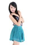 Beautiful young woman fashion model posing Stock Photos