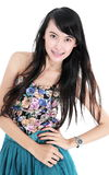 Beautiful young woman fashion model posing Stock Photography
