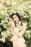 Beautiful young woman fashion model smiling Stock Photography