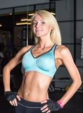 Beautiful Young Woman In Fitness Room Stock Images