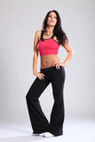 Beautiful young woman in fitness sports bra outfit Royalty Free Stock Photos