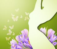 Beautiful young woman. With flowers Royalty Free Stock Images