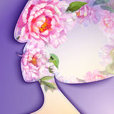 Beautiful young woman. With flowers in hair Stock Photo