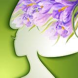 Beautiful young woman. With flowers in hair Royalty Free Stock Photos