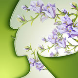Beautiful young woman. With flowers in hair Stock Photography