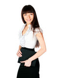 Beautiful young woman with a folder Royalty Free Stock Photography