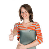 Beautiful young woman with a folder Stock Photography