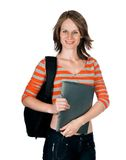 Beautiful young woman with a folder Stock Photo