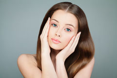 Beautiful Young Woman with Fresh Skin Royalty Free Stock Photography