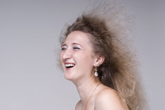 Beautiful young woman fun laughing Royalty Free Stock Photos