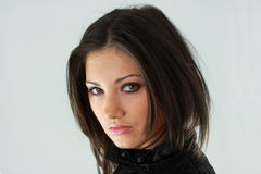 Beautiful Young Woman (girl). Beautiful young woman in black Royalty Free Stock Photos