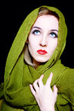 Beautiful young woman in green summer dress Royalty Free Stock Photo