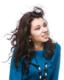 Beautiful young woman with hair flying Royalty Free Stock Image