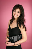 Beautiful young woman with handbag Stock Photography