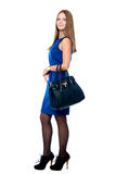 Beautiful young woman with handbag Stock Photo