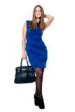 Beautiful young woman with handbag Stock Photography