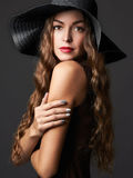 Beautiful young woman in hat Royalty Free Stock Photo
