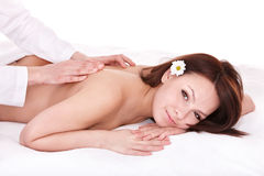 Beautiful young woman having massage. Royalty Free Stock Photos