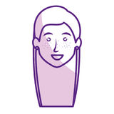 Beautiful and young woman head. Character vector illustration design stock illustration