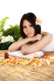 Beautiful young woman in health spa Royalty Free Stock Photography