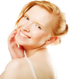 Beautiful young woman with healthy clean face Royalty Free Stock Photo