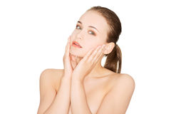 Beautiful young woman with healthy clean skin. Royalty Free Stock Photography