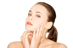 Beautiful young woman with healthy clean skin. Beauty Woman. Beautiful young woman with healthy clean skin Stock Photos