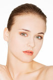 Beautiful young woman with healthy clean skin. Beauty Woman. Beautiful young woman with healthy clean skin Stock Image