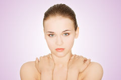 Beautiful young woman with healthy clean skin. Royalty Free Stock Photo