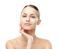Beautiful young woman with healthy clean skin Stock Images